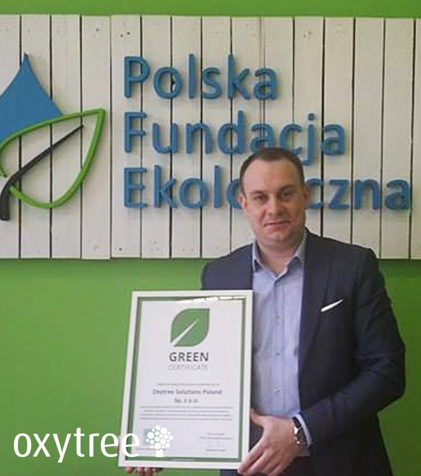 Green Certificate dla Oxytree!