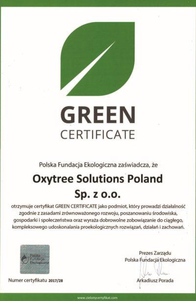oxytree-nagroda-green-certificate