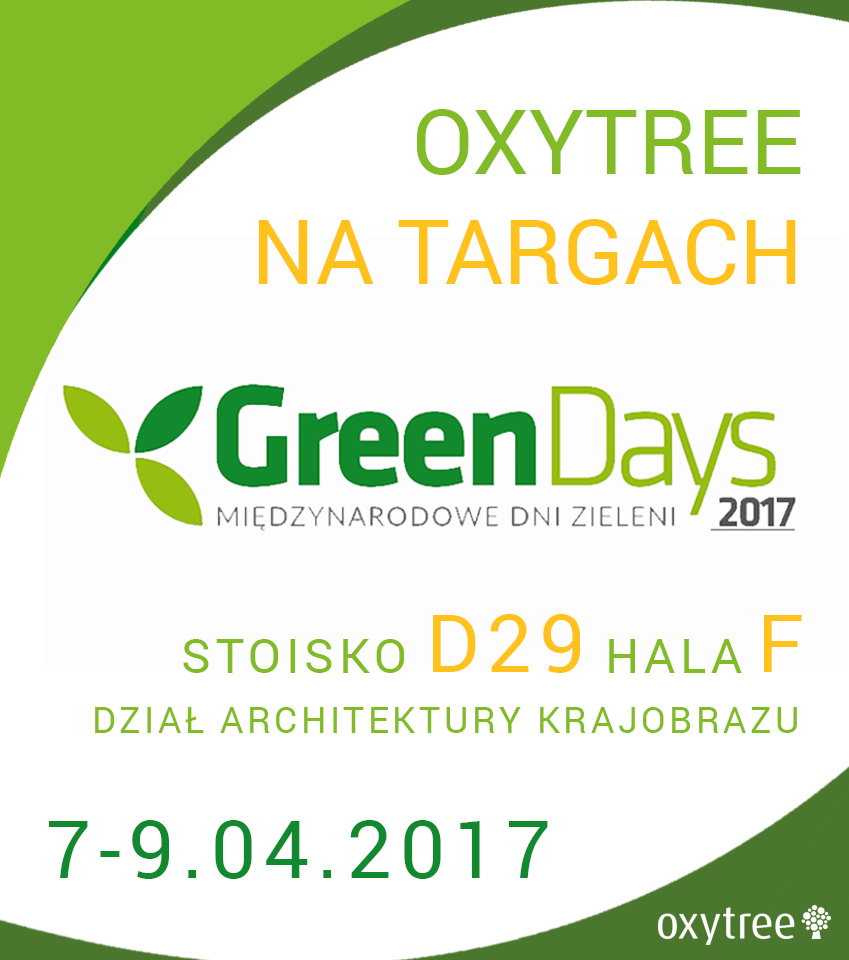 W ten weekend spotkacie nas na Green Days w Nadarzynie!